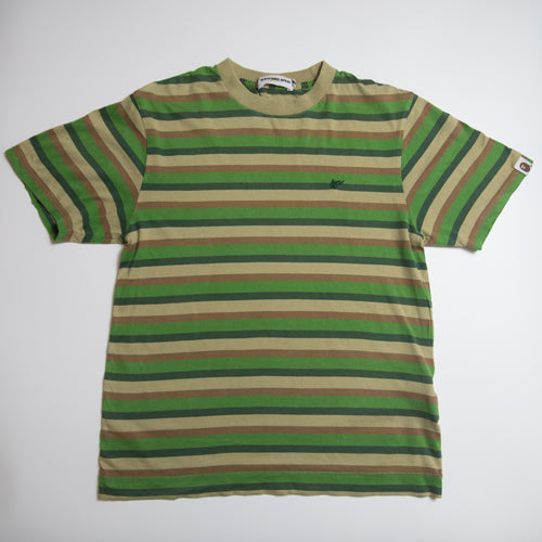 Bape Bapesta Striped Tee (Small / USED)