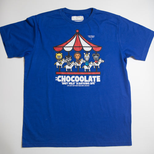 Bape Chocoolate Carousel Tee (Large / USED)