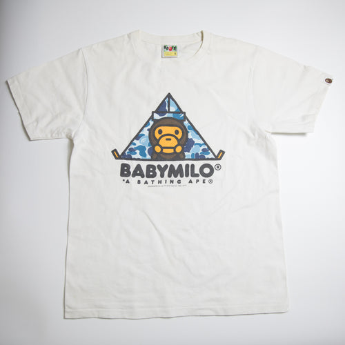 Bape Baby Milo Blue Camo Tent Tee (Medium / USED)