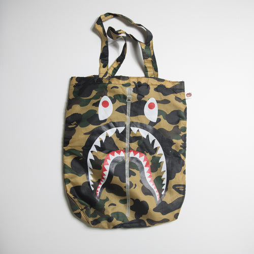 Bape Yellow Camo Shark Tote Bag (MINT)