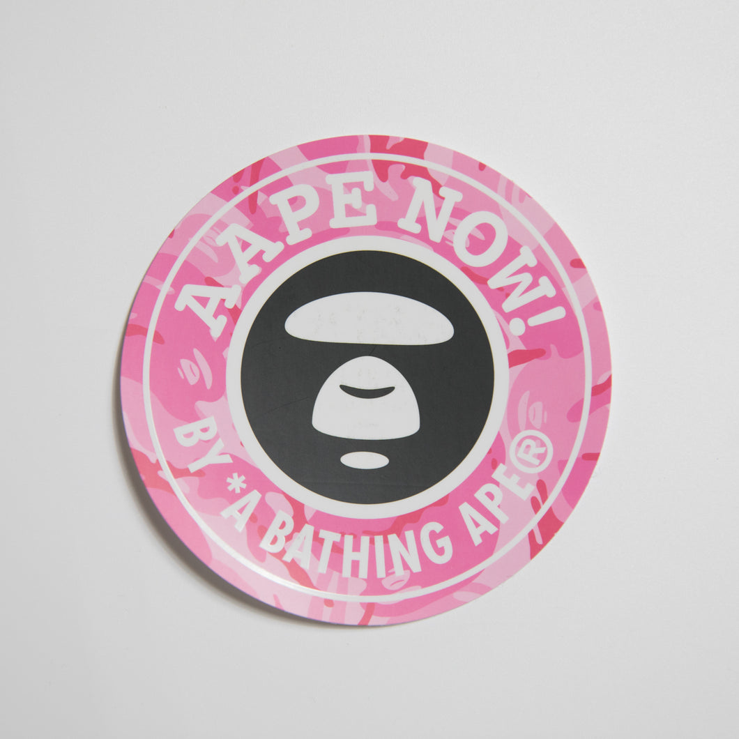 Aape Pink Camo Sticker (MINT)