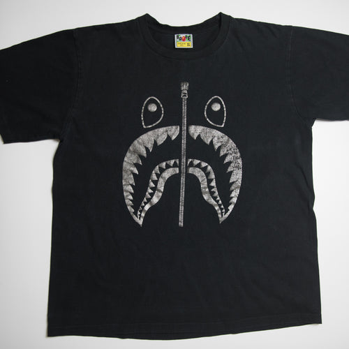Bape Silver Shark Tee (XL / USED)