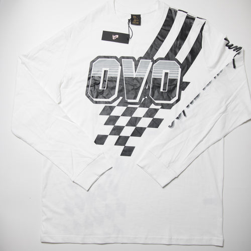 OVO Racing Owl Long Sleeve Tee (XL / MINT)