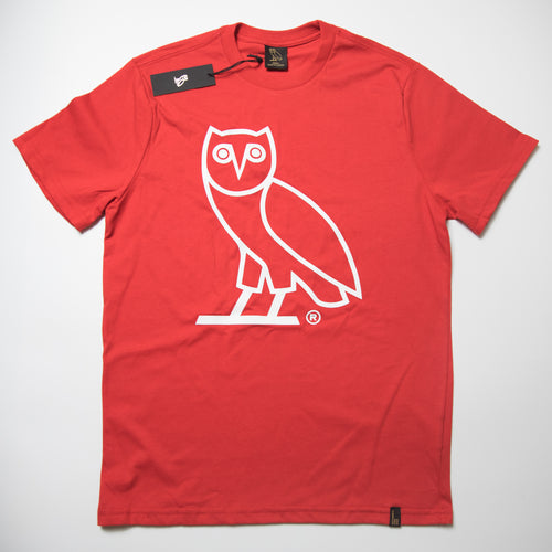 OVO Owl Tee Red (Small / MINT)
