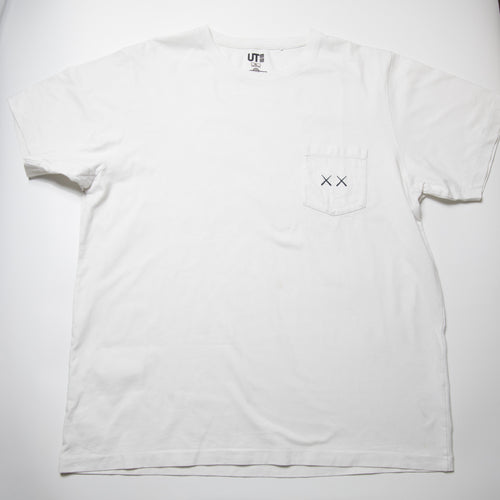 Kaws x Sesame Street Uniqlo Pocket Tee White (XL / USED)
