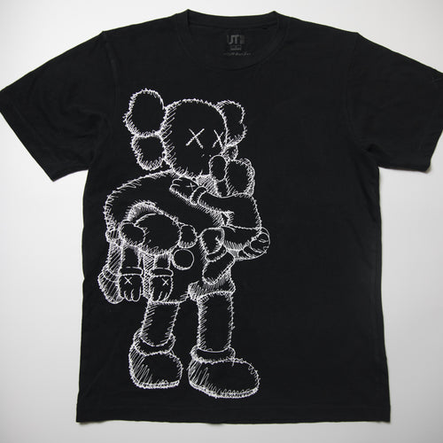 Kaws x Uniqlo Clean Slate Companion Tee Black (Small / USED)