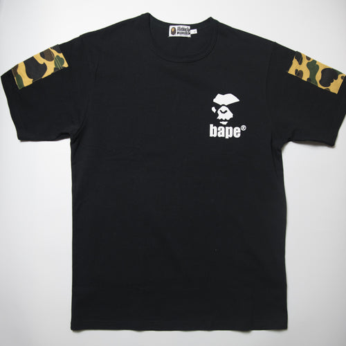 Bape Mad Ape Face Yellow Camo Pockets Tee (XL / USED)