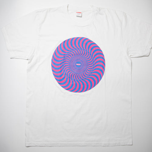 Supreme Spitfire Classic Swirl Tee White (Large / USED)