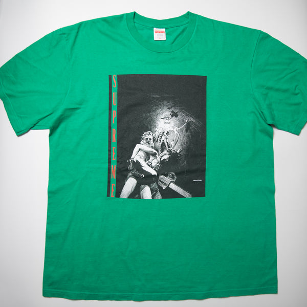 Supreme Chainsaw Tee Green (XL / USED)
