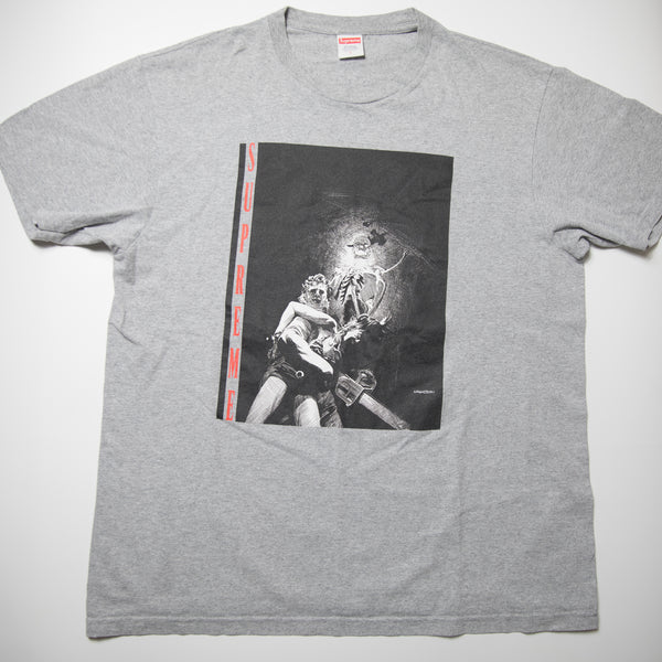 Supreme Chainsaw Tee Grey (Large / USED)