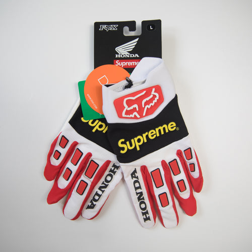 Supreme x Honda x Fox Racing Gloves Red (Multiple Sizes / NEW)