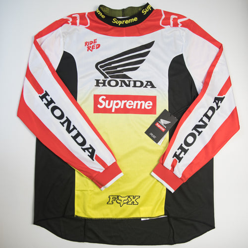 Supreme x Honda x Fox Racing Moto Jersey Top Red (XL / NEW)