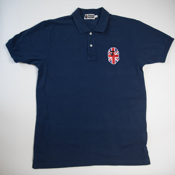 Bape Union Jack Ape Head Polo Shirt (Large / USED)