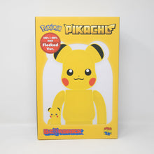 Medicom Toy BEARBRICK - Pokemon Pikachu Flocked Version - 400% & 100% Figure Set (NEW)
