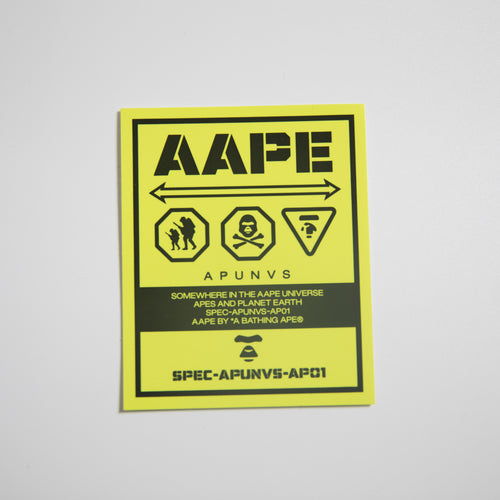 Aape Danger Sticker (MINT)