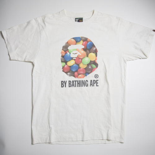 Bape Candy Ape Head Tee (Medium / USED)
