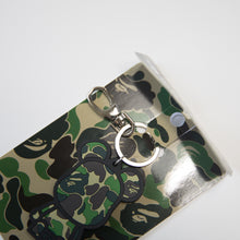 Bape x Medicom Toy Bearbrick Green ABC Camo Silicon Keychain (MINT)