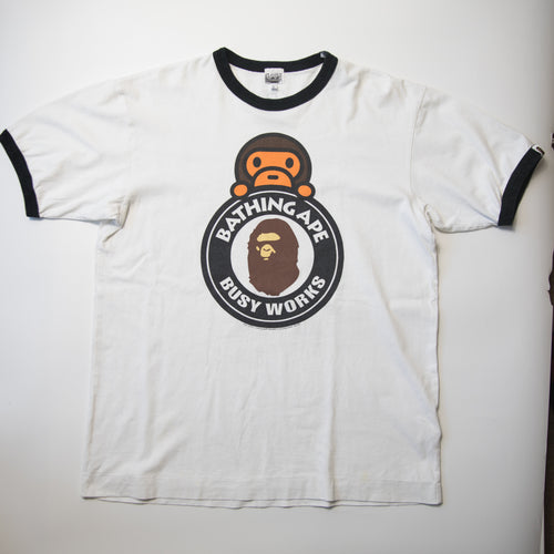 Bape Busy Works Baby Milo Tee (Large / USED)