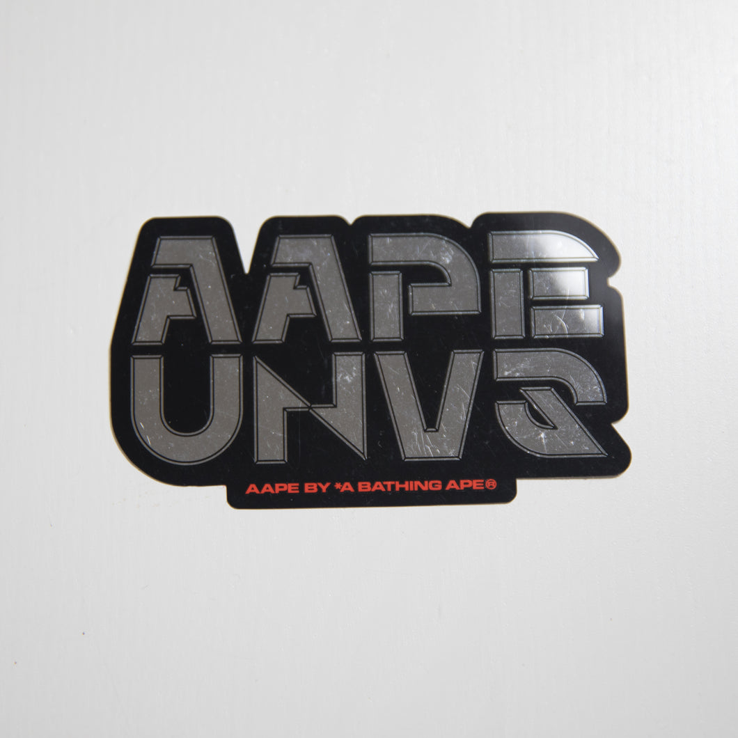 Aape Universe Chrome Sticker (MINT)