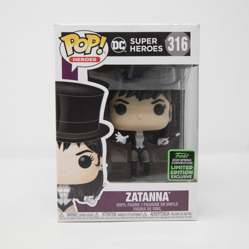 Funko POP! DC Super Heroes #316 - Zatanna - ECCC 2020 Spring Convention Exclusive - Vinyl Figure (MINT)