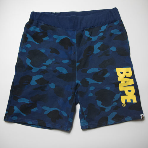 Bape Blue Camo Shorts (XL / USED)