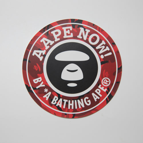 Aape Red Camo Sticker (MINT)