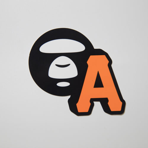Aape Ape Head Letter A Sticker (MINT)
