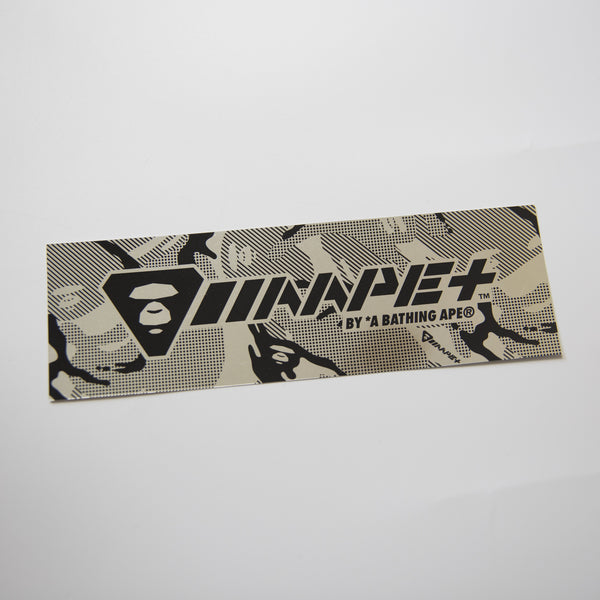 Aape Chrome Camo Box Logo Sticker (MINT)