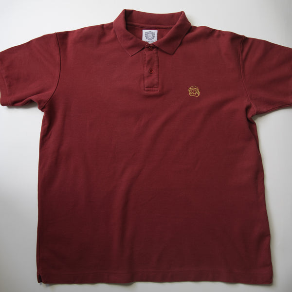 Billionaire Boys Club Helmet Polo Shirt Maroon (XL / USED)