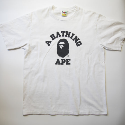 Bape Black College Tee (XL / USED)