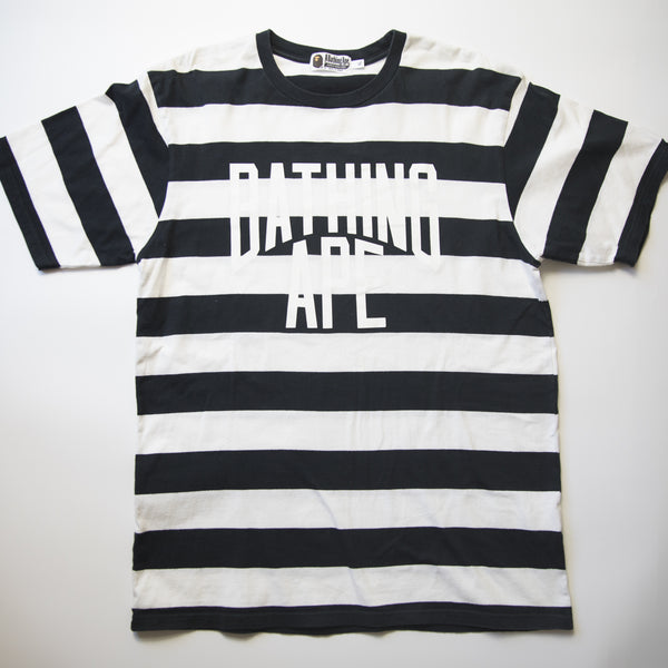 Bape Stripe City Logo Tee (XL / USED)