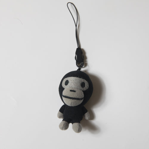 Bape Baby Milo Black Mini Plush Keychain (USED)