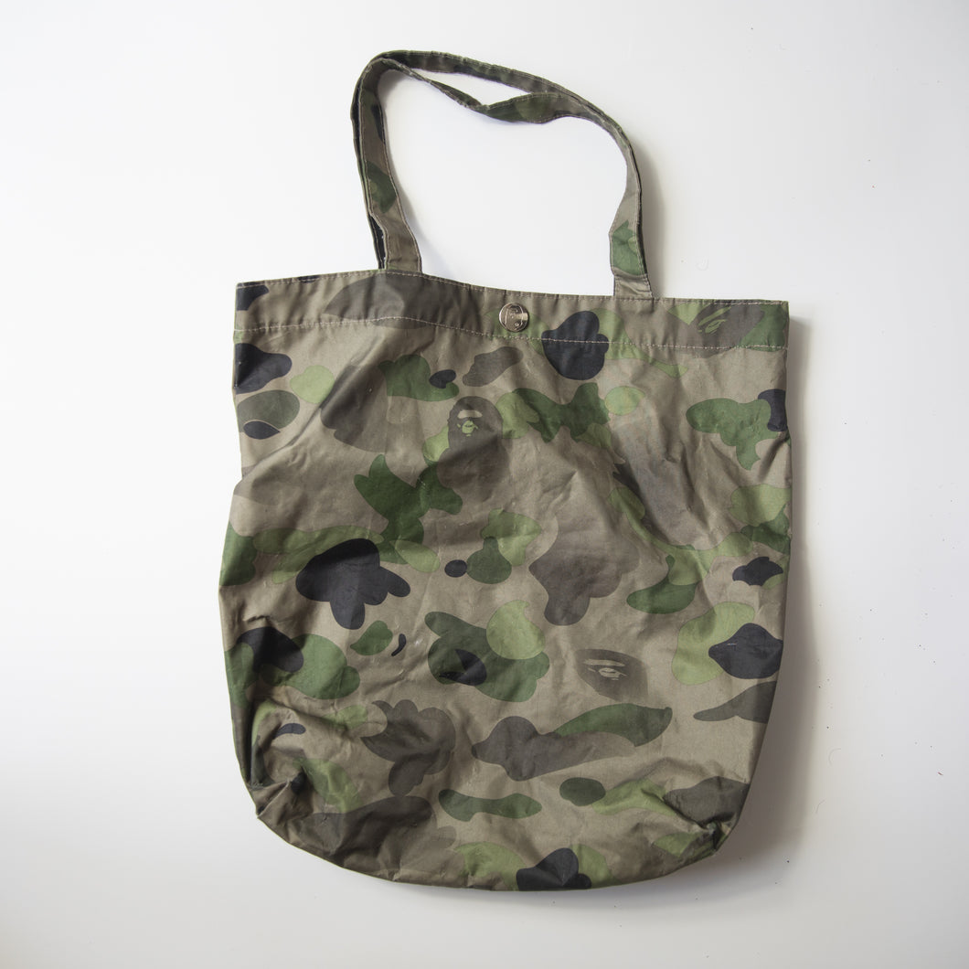 Bape Green Camo Tote Bag (USED)
