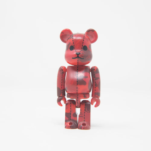 Medicom Toy BEARBRICK x Bape Red Flame Camo 100% Figure (MINT)