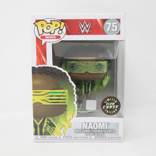 Funko POP! WWE #75 Naomi - Limited Edition Glow Chase - Vinyl Figure (MINT)