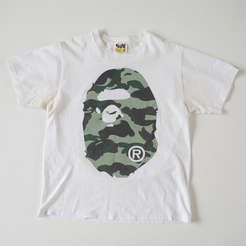 Bape Green Camo Tee (Medium / USED)