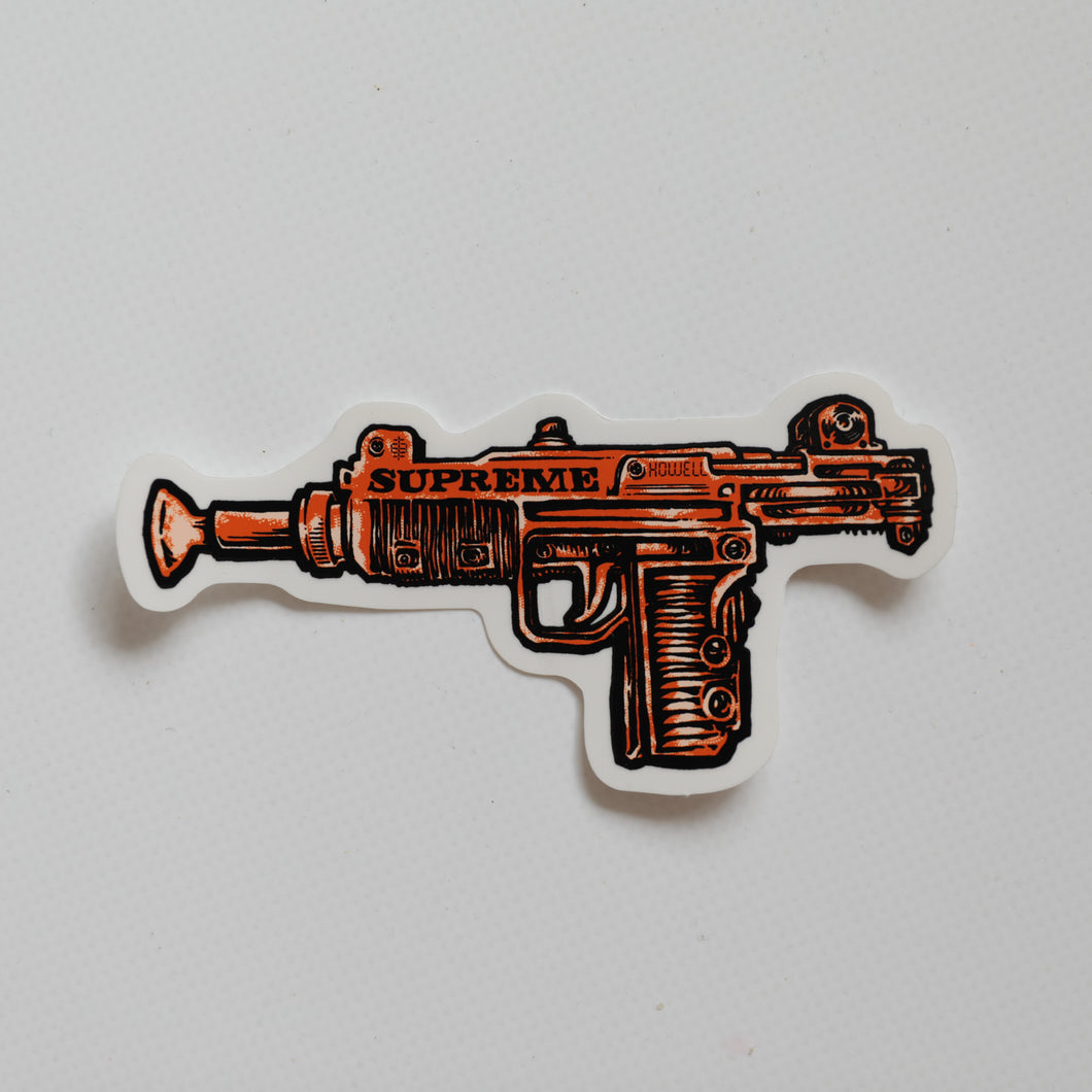 Supreme Toy Uzi Sticker Red (MINT)
