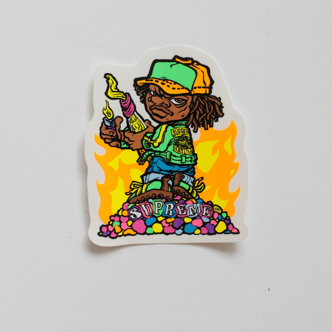 Supreme Molotov Kid Sticker (MINT)