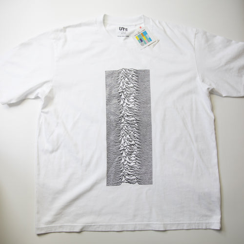 Peter Saville Remix x Uniqlo Joy Division Tee White (Multiple Sizes / MINT)