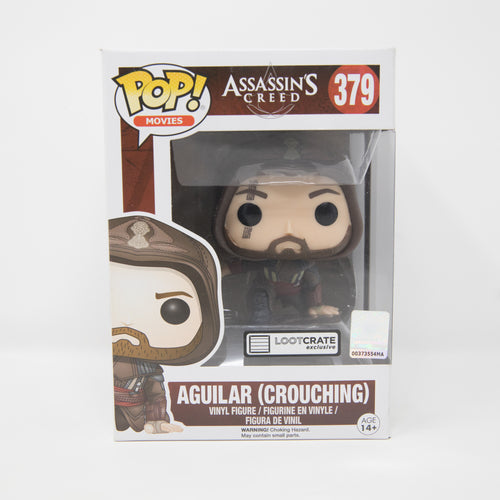 Funko POP! Assassin's Creed #379 - Aguilar (Crouching) Lootcrate Exclusive - Vinyl Figure (MINT)