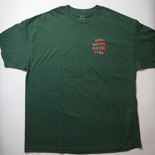 Anti Social Social Club Mind Games Tee Green (XXL / MINT)