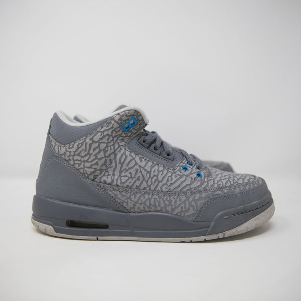 "Nike Air Jordan 3 GS ""Flip Blue Glow"
