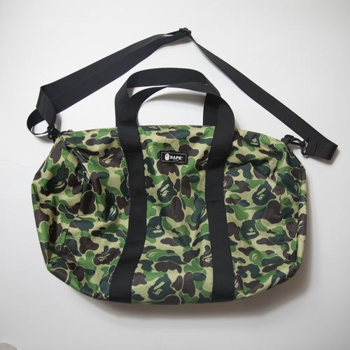 Bape Green Camo Duffle Bag (USED)