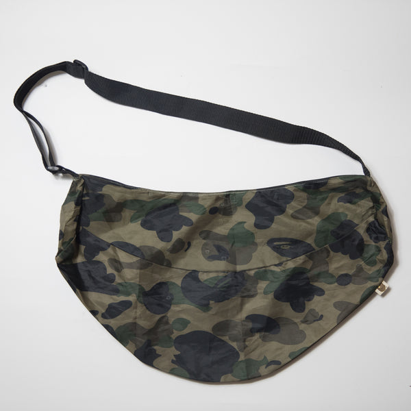 Bape Green Camo Messenger Bag (USED)