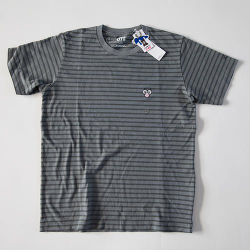 Kaws x Uniqlo BFF Striped Tee Grey (Multiple Sizes / NEW)