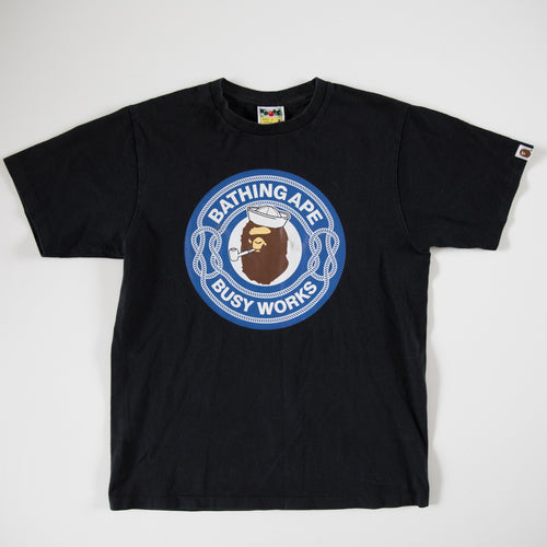 Bape Sailor Busy Works Tee (Medium / USED)