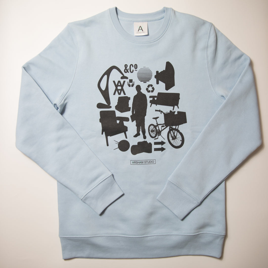 Daniel Arsham Man Chair Sweatshirt (Medium / MINT)