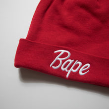 Bape Logo Beanie Red (MINT)