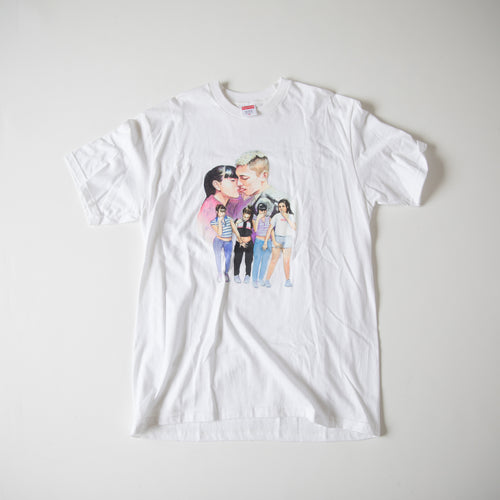 Supreme Kiss Tee White (Medium / MINT)