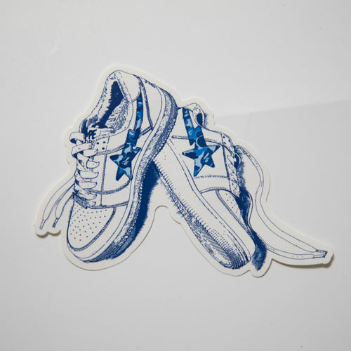 Bape Bapesta 20th Anniversary Blue Camo Sticker (MINT)
